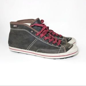 Simple Shoes Mens Leather Sneaker Brown Sz 10